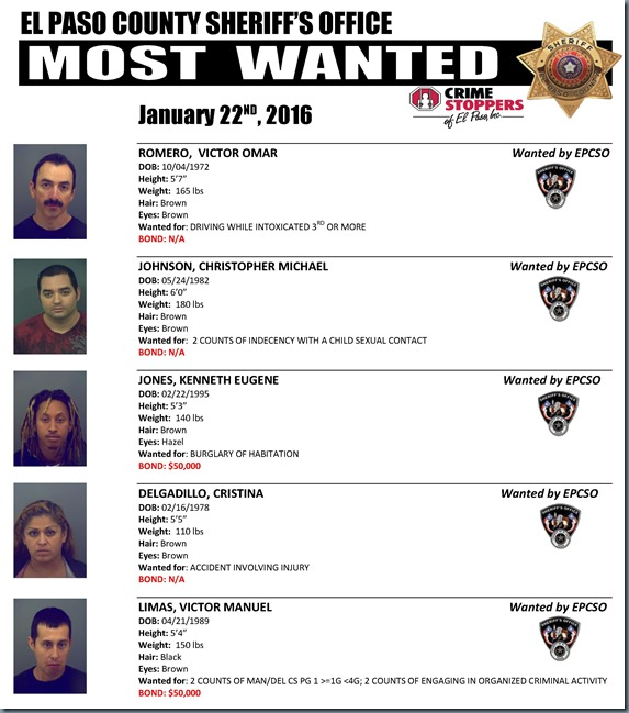 MOST WANTED 01 22 2016