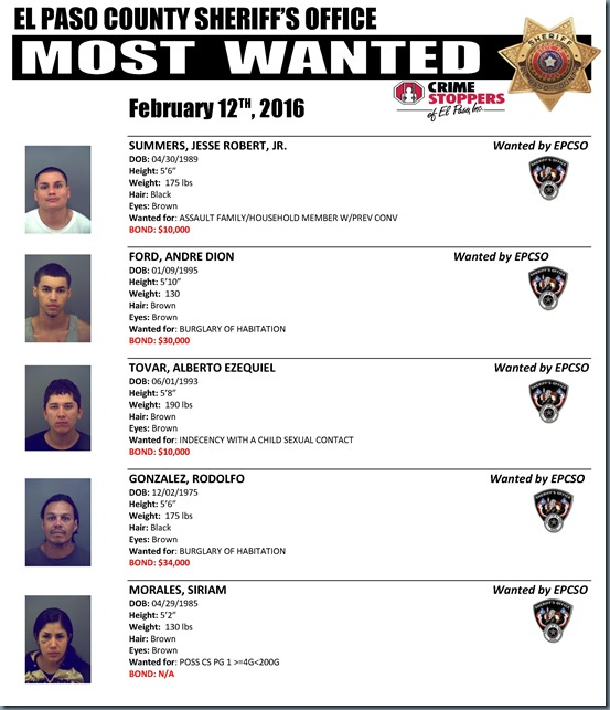 MOST WANTED 02 12 2016