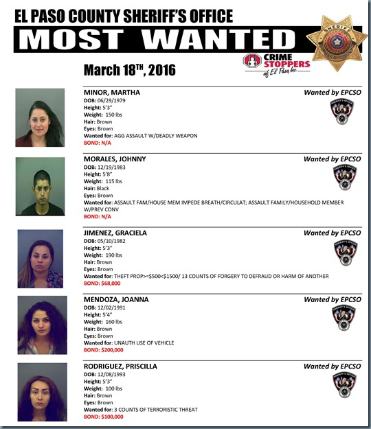 MOST WANTED 03 18 2016