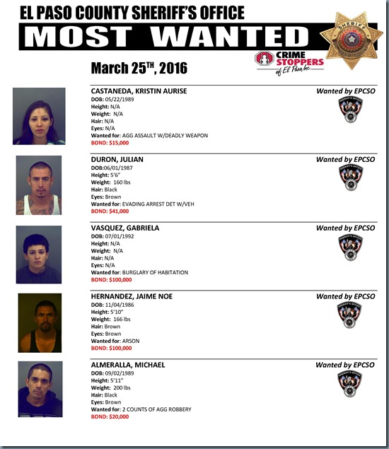 MOST WANTED 03 24 2016