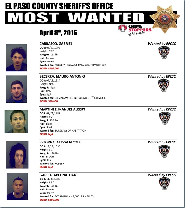 MOST WANTED 04 08 2016