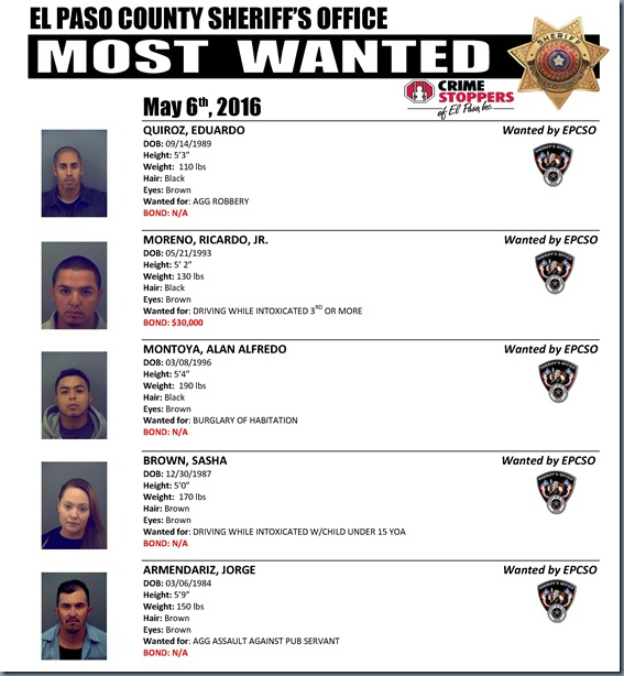MOST WANTED 05 06 2016