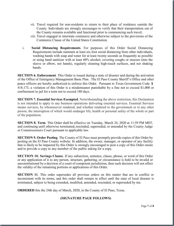 Order No. 7 County Judge Stay Home Work Safe Order_7