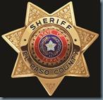 Sheriff Badge black back
