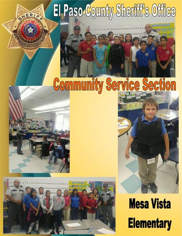 EPCSO COMMUNITY SERVICE SECTION CAREER DAY AT MESA VISTA ...