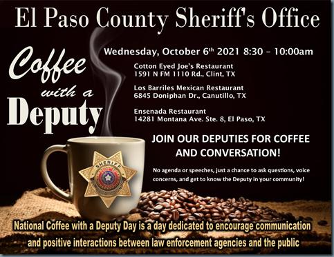 coffee with a deputy