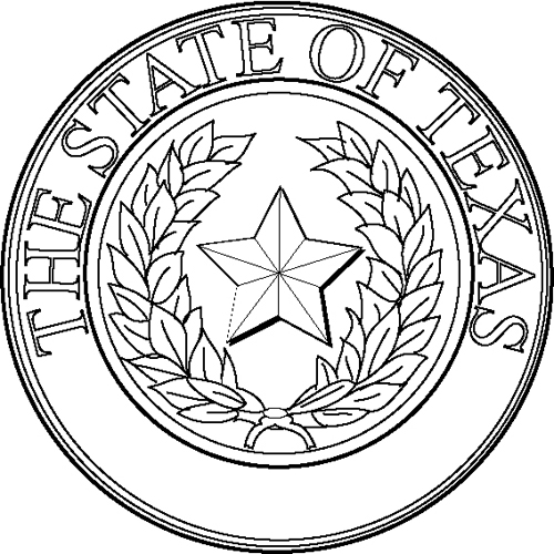 Texas state seal coloring pages coloring pages for State of texas symbols coloring pages